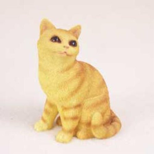Orange Tabby Cat Figurine