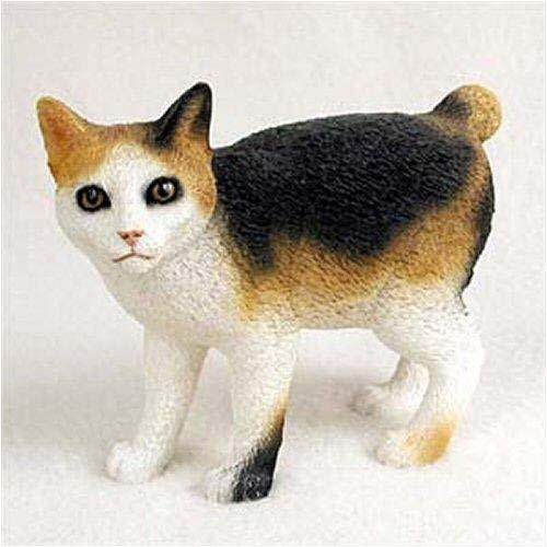 Japanese Bobtail, Tortoise & White Cat Figurine