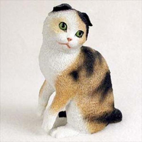 Scottish Fold, Tortoise & White Cat Figurine