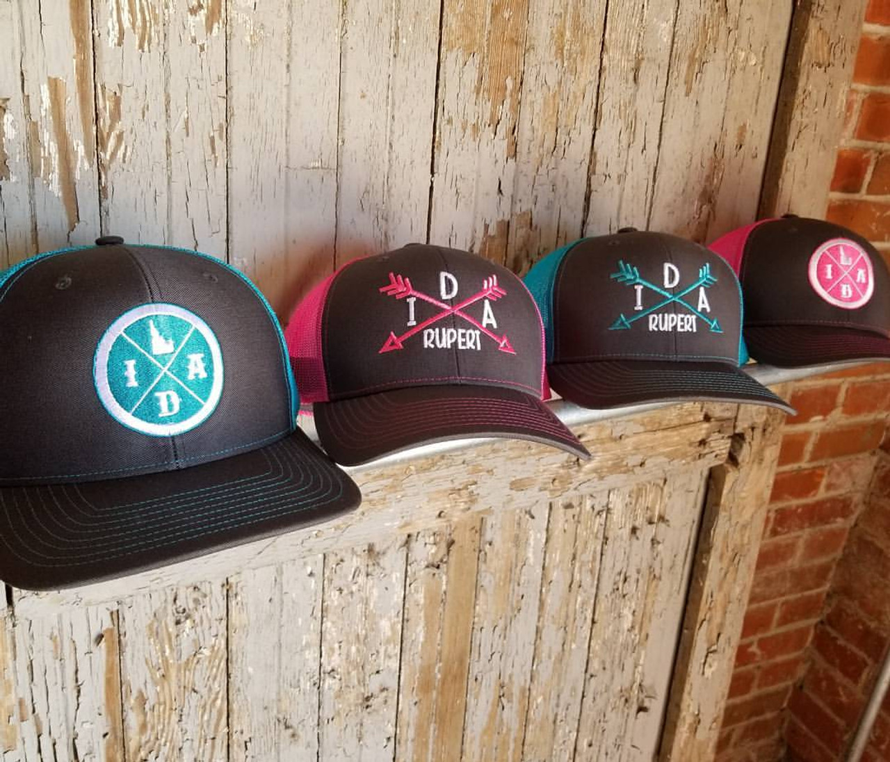 Custom Trucker Hat Richardson Horseshoes A Embroidery Business Name Cotton Snaps