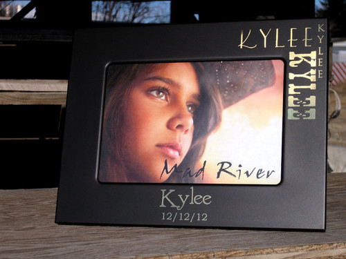Laser Engraved Smooth Matte Finish 5 x 7 Photo Frame