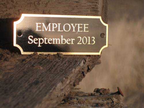 2.5 x 1 Laser Engraved BRASS Name Plate