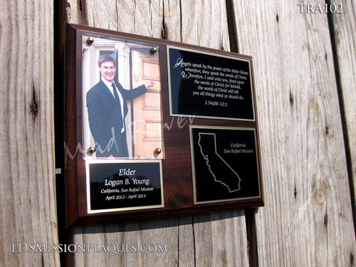 TRA102 Traditional LDS Mission Plaque 8x10