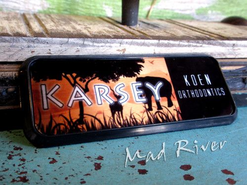 Name Badge/ Tag - 3 x 1 - Full Color on Metal