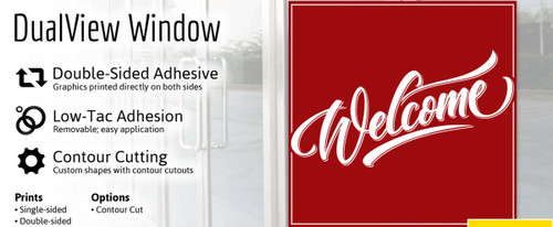 Dual View Window Graphic - Per Square Foot