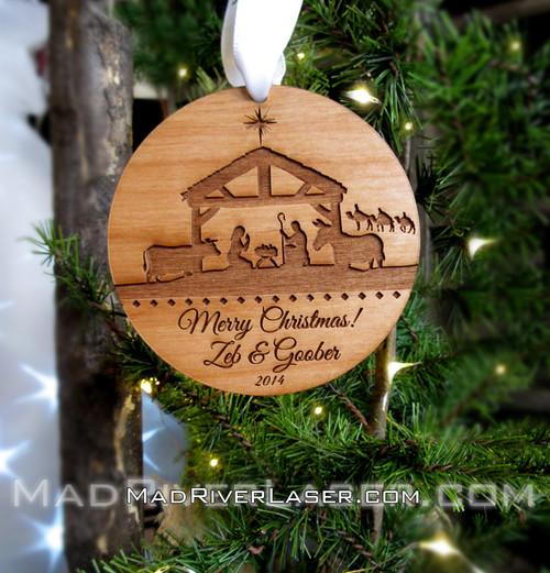 Nativity Custom Ornament