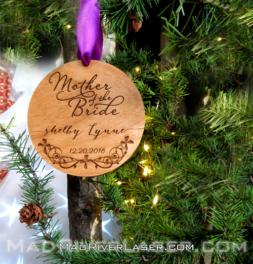 Mother of the Bride or Wedding Party Ornament