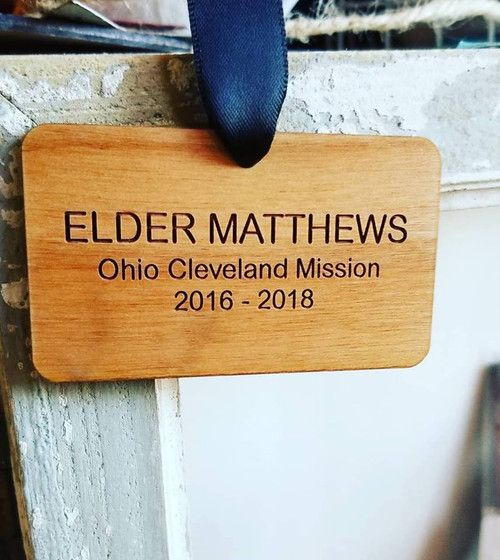 Missionary Name Tag Ornament