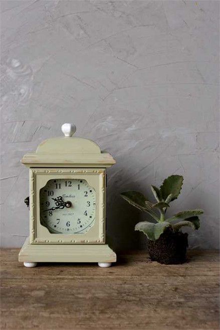 Creative Co Op Wood Mantel Clock