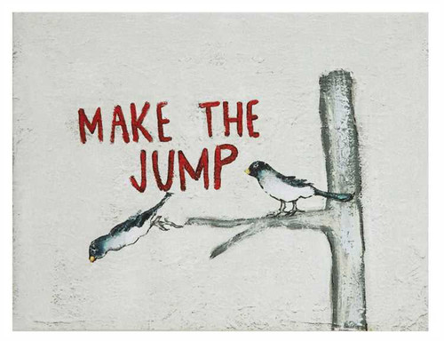 "CANVAS ""MAKE THE JUMP"" WALL DÉCOR"