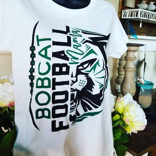 Football Mama 2017-2018 Half Mascot Tee
