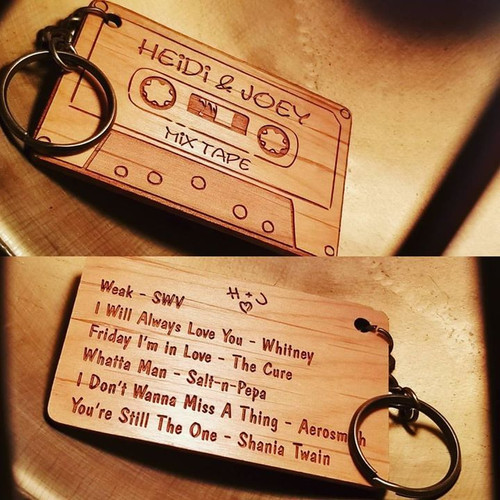 Cassette Tape Key Chain