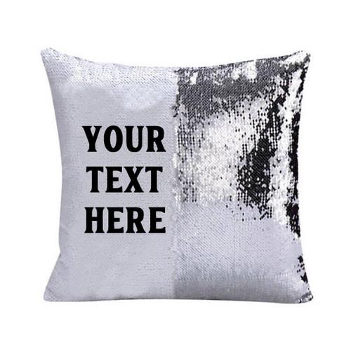 Sequin Pillow - Custom Text