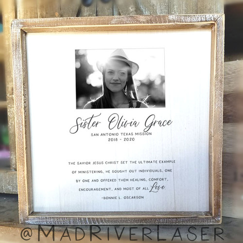 Sister Missionary Canvas 12 x 12