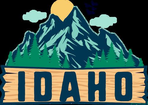 Idaho Decal Mtn1
