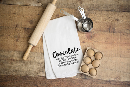 Chocolate Salad Flour Sack Towel