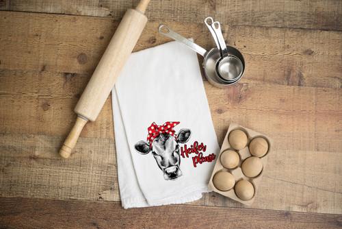 Heifer Please Flour Sack Dish Towel
