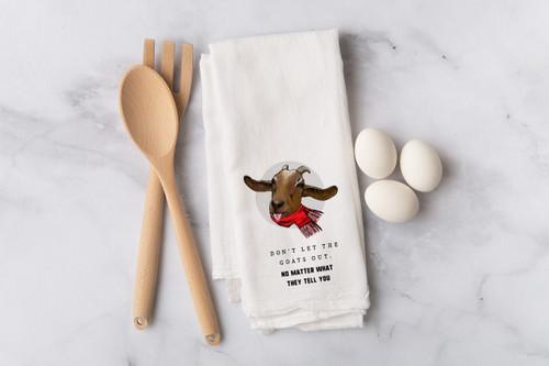 Goats Flour Sack Dish Towel