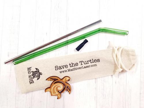 Glass Straw Kit (Bent or Straight)