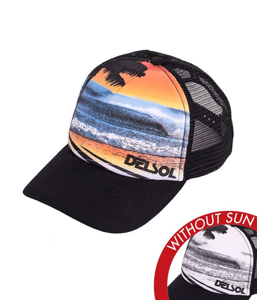 Del Sol Ocean Surf Trucker Hat
