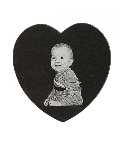 "Granite Tile Marker - Heart 5"" x 5"""