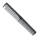 YS Park 332 Wide/Fine Tooth Cutting Comb Carbon Black