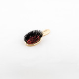 Janeke Gold Mini Hairbrush with Pure Boar Bristle