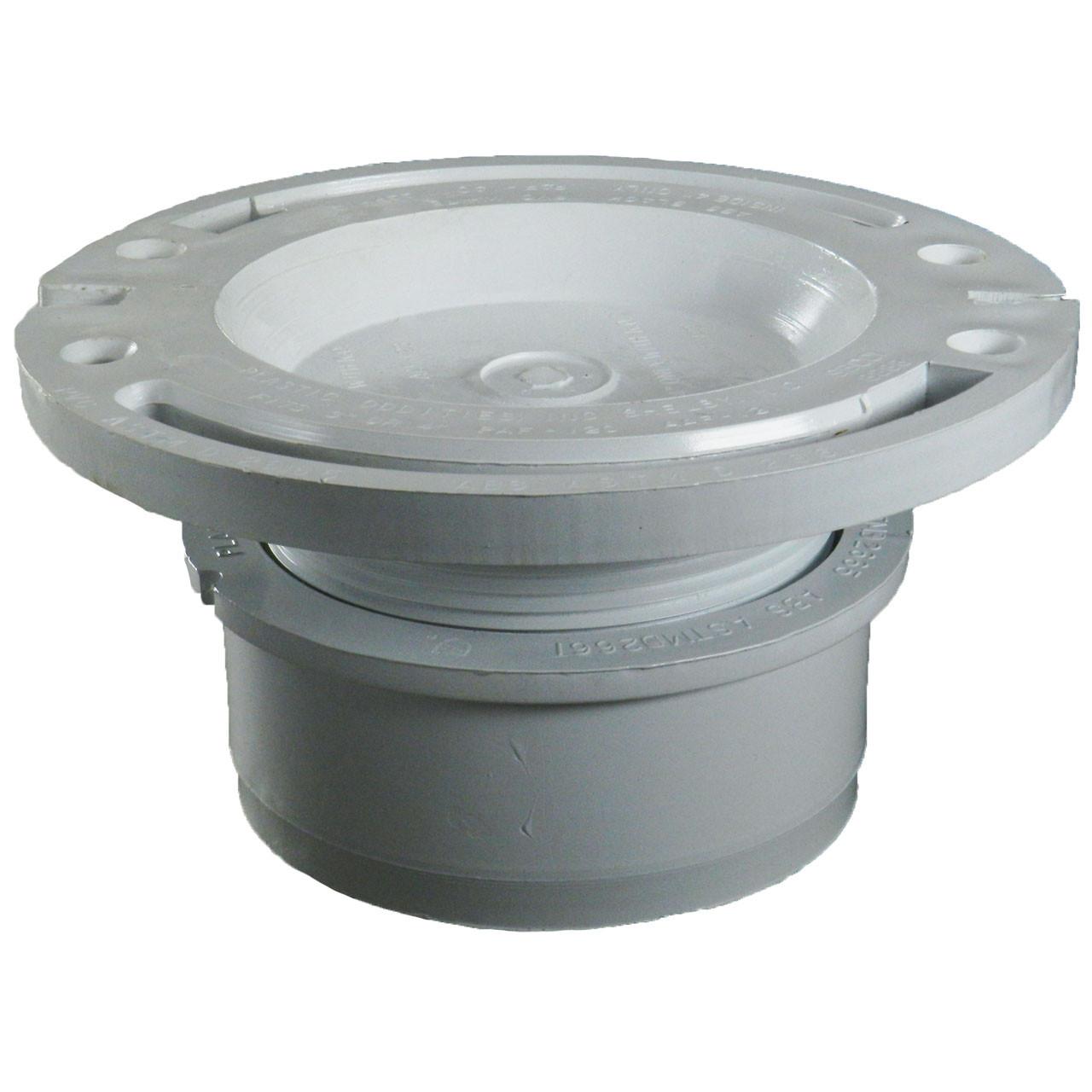 Adjustable Toilet Flange with Knockout