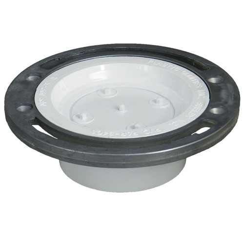 Toilet Flange with Adjustable Metal Ring and Knockout