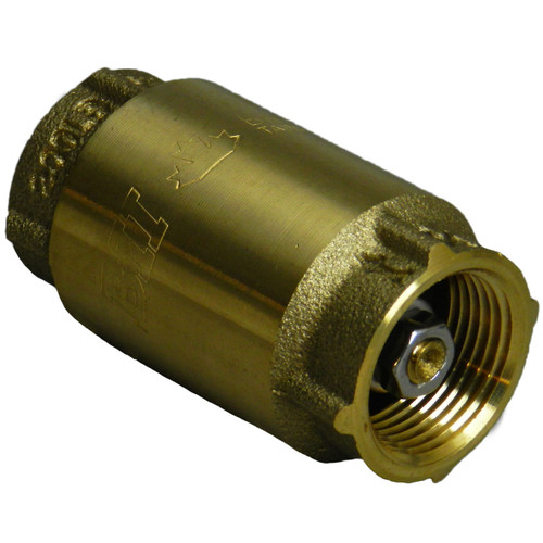 Brass Check Valve with FNPT Connection - Lead Free