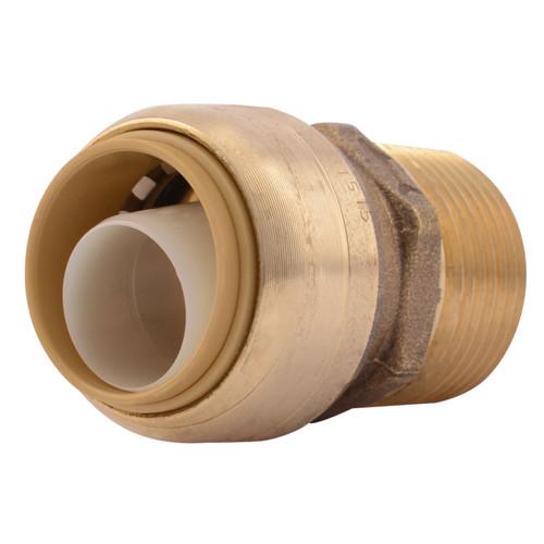 SharkBite Brass MNPT Straight Adapter - Lead Free