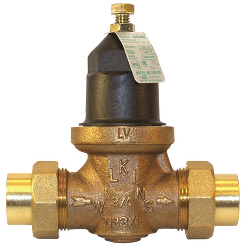 Water Pressure Reducing Valve - Dual Union Connection