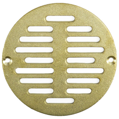 "5"" Polished Brass Finish Cast Strainer (SP4PB-080434500468)"