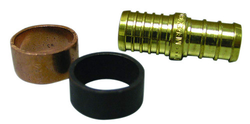 Poly to PEX transition coupling