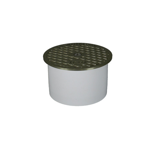 """Snap-in Fit Cleanout with Metal Cover - 3"""" x 4"""" Pipe Fit"""