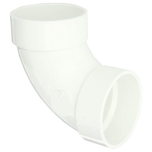"""1-1/2"""" PVC DWV 90 Degree Elbow (1/4 Bend Hub x Hub) - Contractor Pack"""