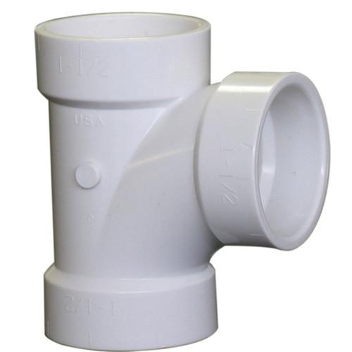 "1-1/2"" PVC DWV Sanitary Tee (Hub x Hub x Hub) - Contractor Pack"