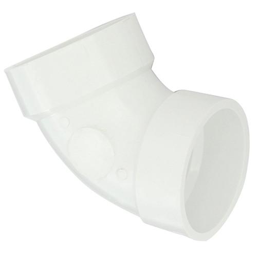 """1-1/2"""" PVC DWV 60 Degree Elbow (1/6 Bend Hub x Hub) - Contractor Pack"""