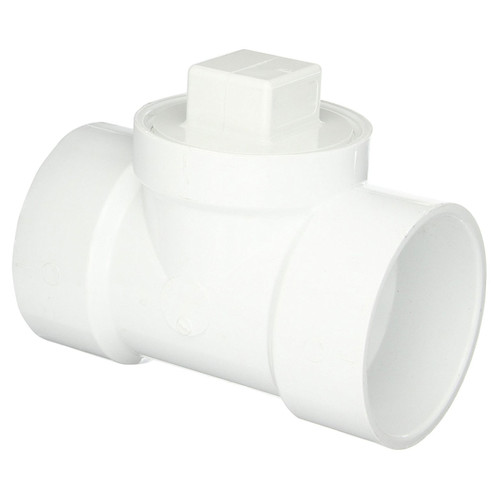 """4"""" PVC DWV Cleanout Tee with  Cleanout Plug"""