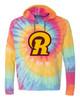 Ross Youth Spiral Tie Dye Hoodie R Logo