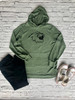Harrison Ladies Glitter Hacci Pullover Hoodie with Pocket