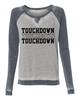 Football Touchdown Ladies Acid wash Crew Sweatshirt