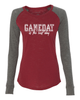 Gameday is best Ladies Preppy Patch Slub Long Sleeve T-Shirt