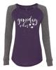 Gameday Vibes Soccer Ladies Preppy Patch Slub Long Sleeve T-Shirt