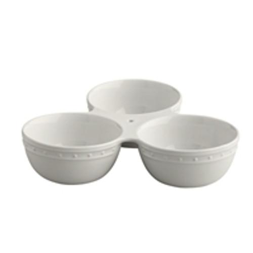 Nora Fleming Triple Round Dish Server