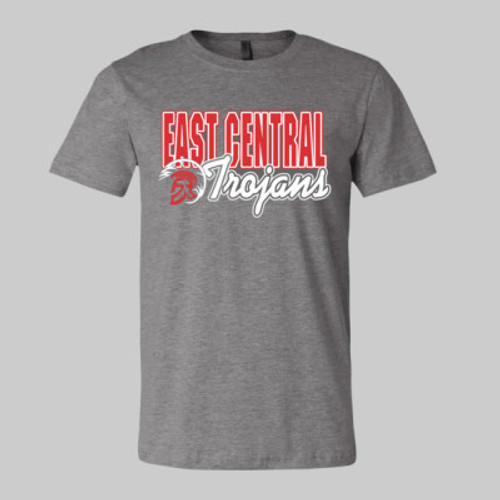 East Central Trojan Head 2019 Vintage Gray
