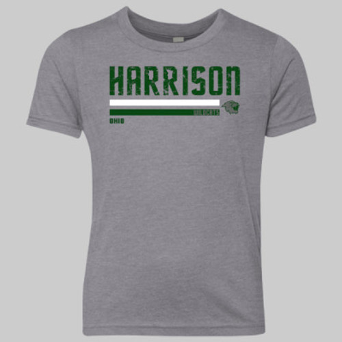 Harrison Wildcats Stripe 2019 YOUTH Vintage Gray