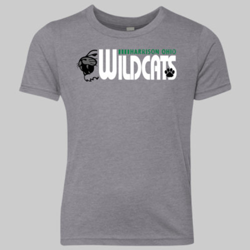 Harrison Ohio Wildcats Outline 2019 YOUTH Vintage Gray