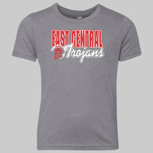 Youth East Central Trojan Head 2019 Vintage Gray