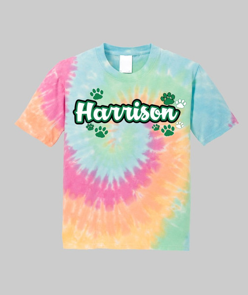 Harrison Youth Rainbow Tie Dye Tee